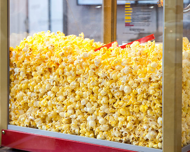Popcorn, snacks and frozen treats available at Tom & Jerry's Mini Golf snack bar